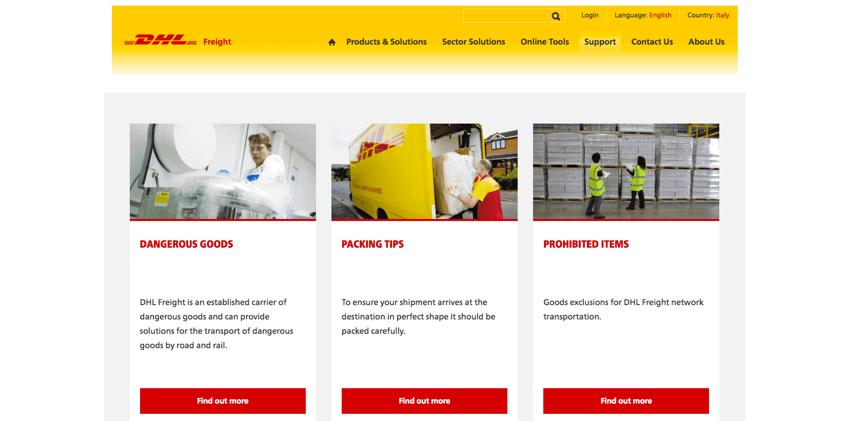 Kentico Website from DHL