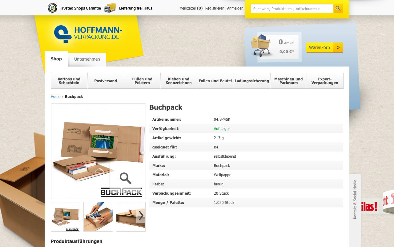 Inforich product presentation in Magento
