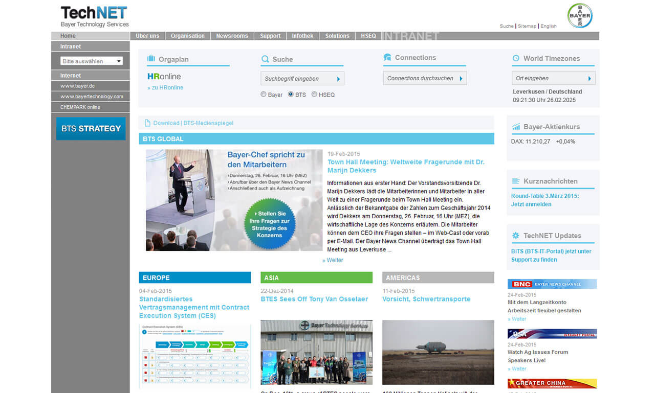 Intranet Agency sunzinet for Technet
