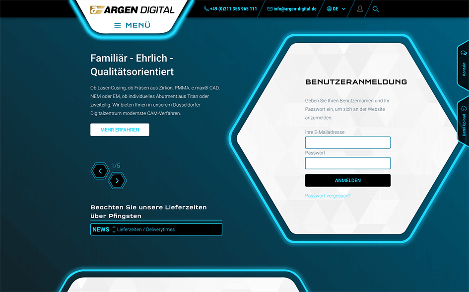 ARGEN Digital | TYPO3 Website made by SUNZINET