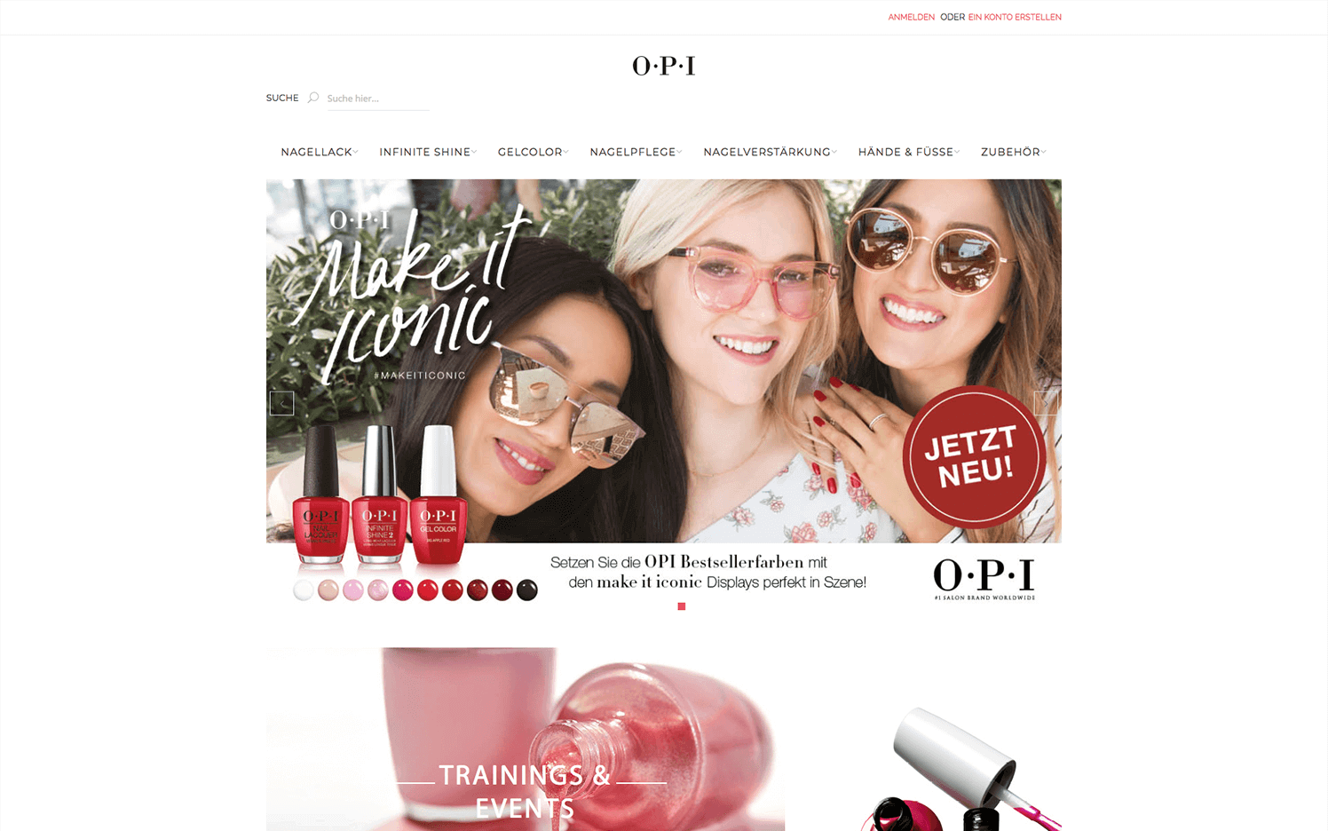 Online Shop for Colibri Beauty GmbH (OPI)