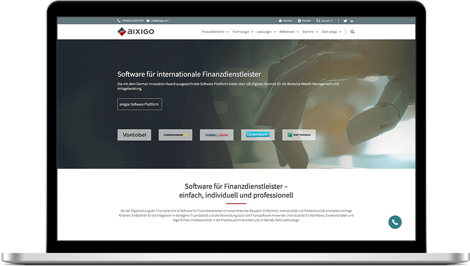 aixigo | TYPO3 Website made by SUNZINET
