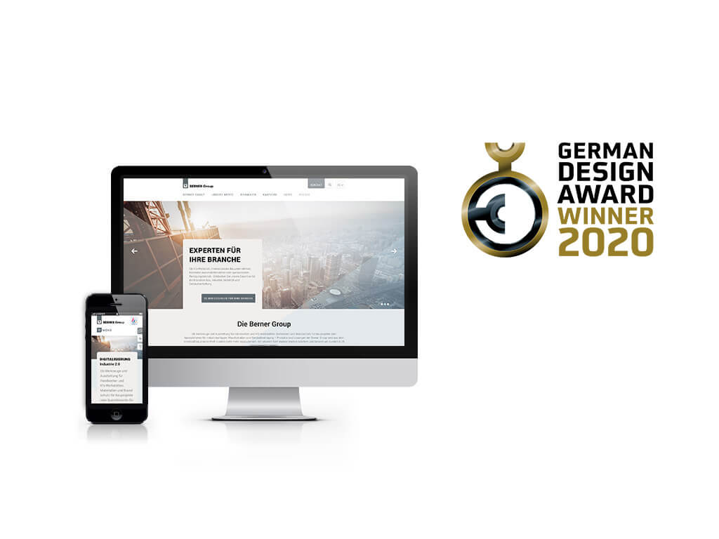 Berner Group German Design Award 2020 | sunzinet AG