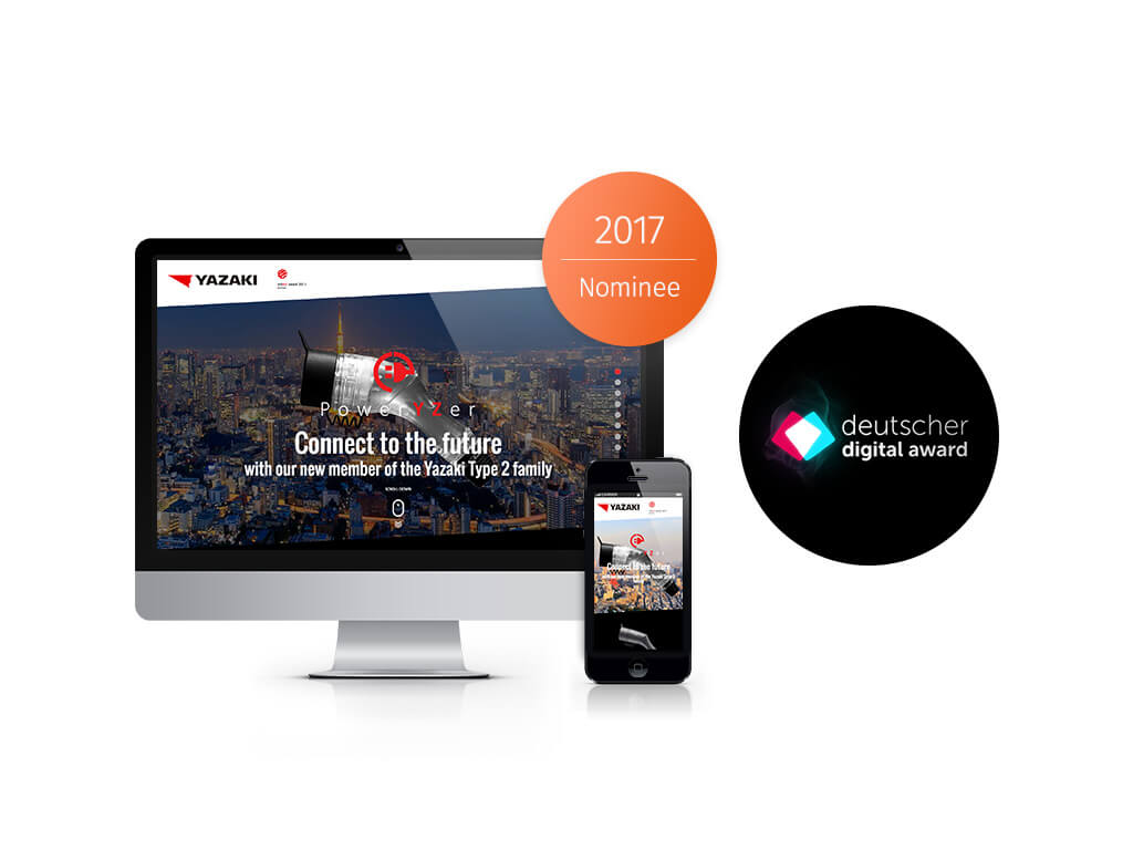 YAZAKI Deutscher Digital Awards 2017 Nominee sunzinet